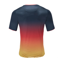 Mens Breathable Dry Fit Rugby Wear T Shirt
